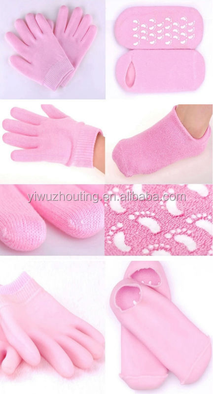 2014 hot new product SPA moisturizing gel gloves gel socks