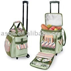Rolling Cooler Bag with Trolley