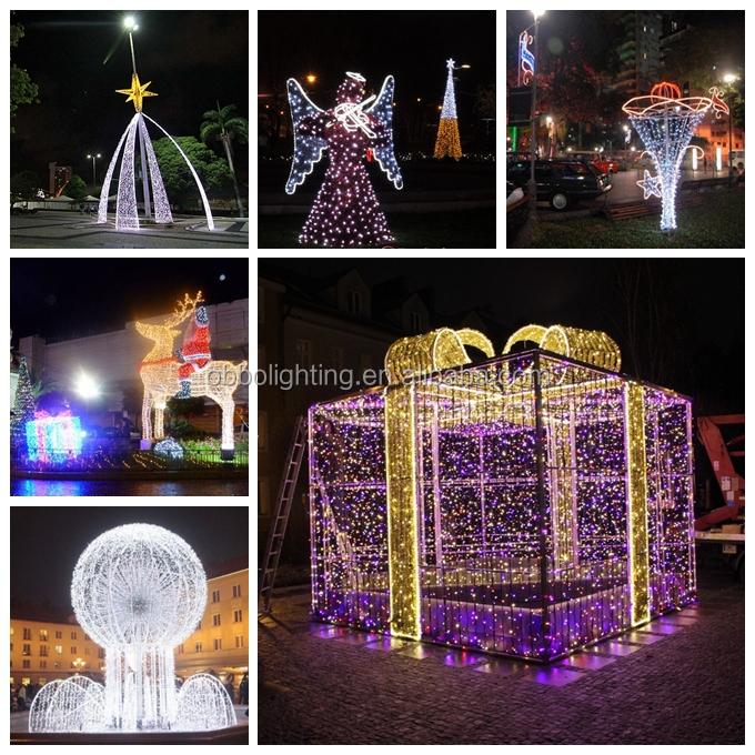 Commercial christmas decoration street light 3d motif for 3d garden decoration