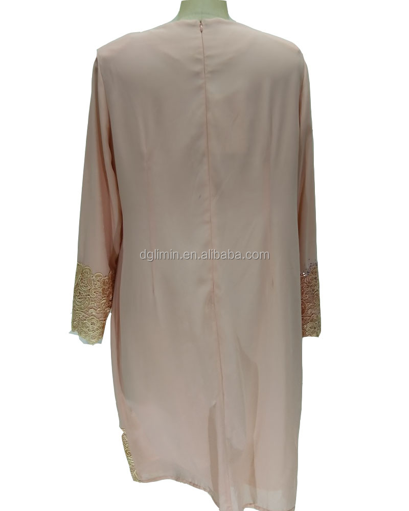 Front nect designs for kurits embroidery dress women clothing islamic long shirt