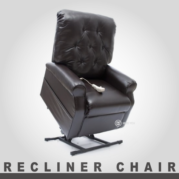 Office Room Electric Leather Recliner Massage Leather Lift Chair