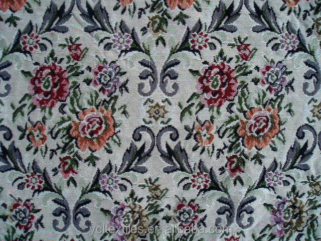 Floral 2014 Manufacture Gobelin Polyester/Cotton Fabric for Coth and Sofa and Table