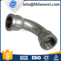 China High Quality Malleable Iron Pipe Fitting 42 45 degree male female bends