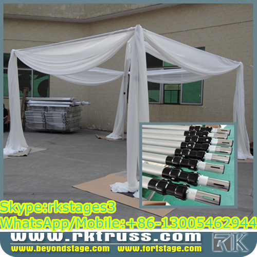 RK cheap pipe and drape alternatives/square mandap design/8-16ft crossbars