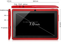 7 inch Q88 Tablets Quad Core AllWinner A33 1.2GHz Android 4.4 512MB+8GB Bluetooth WiFi OTG Tablets computers