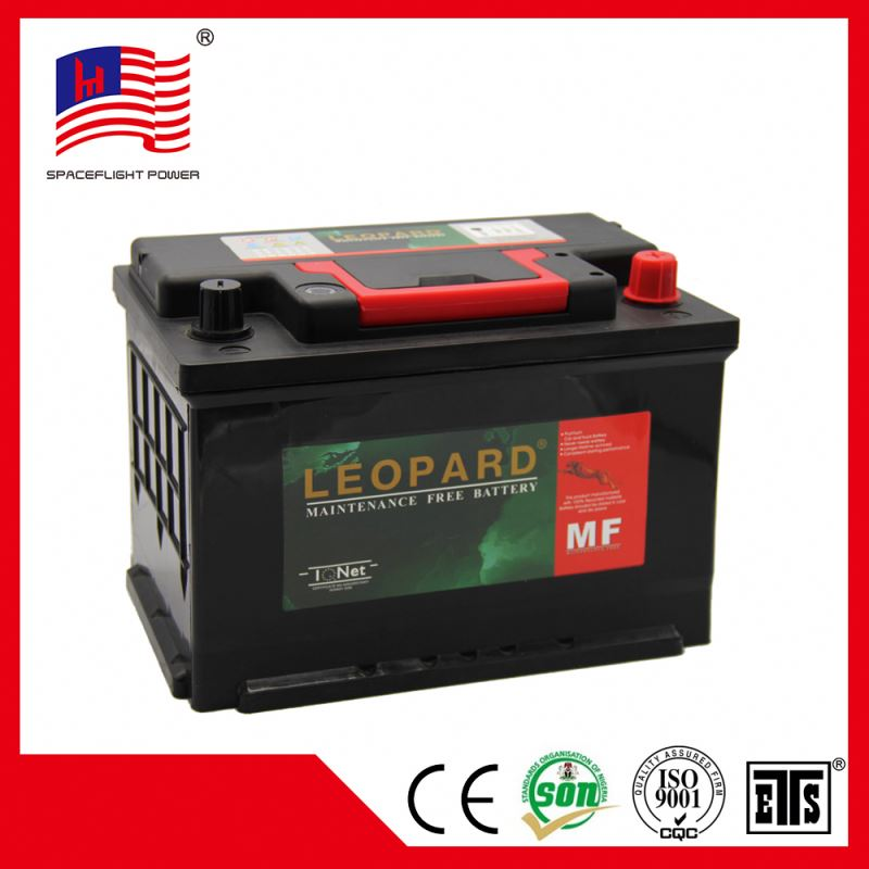 korean design 12V75AH DIN style great power batteria auto 75ah
