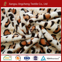 High quality wholesale leopart print quilting fabric, flannel fleece fabrics factory JC04233