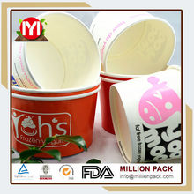 Custom Printed Ice Cream Cup With Lid,Ice Cream Paper Containers