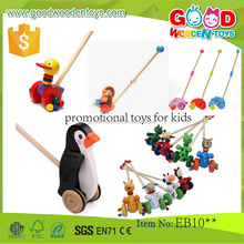 EN71/ASTM wooden educational animal push toys OEM/ODM promotional toys for kids