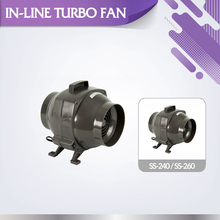 High level residential ventilation SS-260 inline duct centrifugal turbo fan