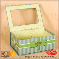 Luxury Flat pack divided decorative cardboard storage boxes