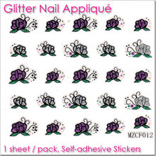 Floral Sticker Easy Magical mini Fast Glitter Nail Art Lowest price #MZCF012