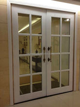 glass insert solid cherry wood interior front door design models