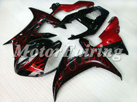 yzf r1 2003 body kit for yamaha r1 2003 2002 yzf r1 fairing 02 03 r1 racing fairing red flames black