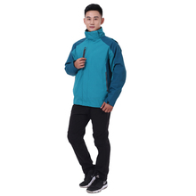 Polyester Nylon Waterproof OEM Service Blue Men United States Outdoor Jacket