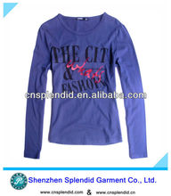 Wholesale cheap Customized logo purple noble fashion cotton king t shirts