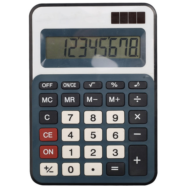 Creative 8Digit Desk Calculator Solar Panel with Cost and Sell Function
