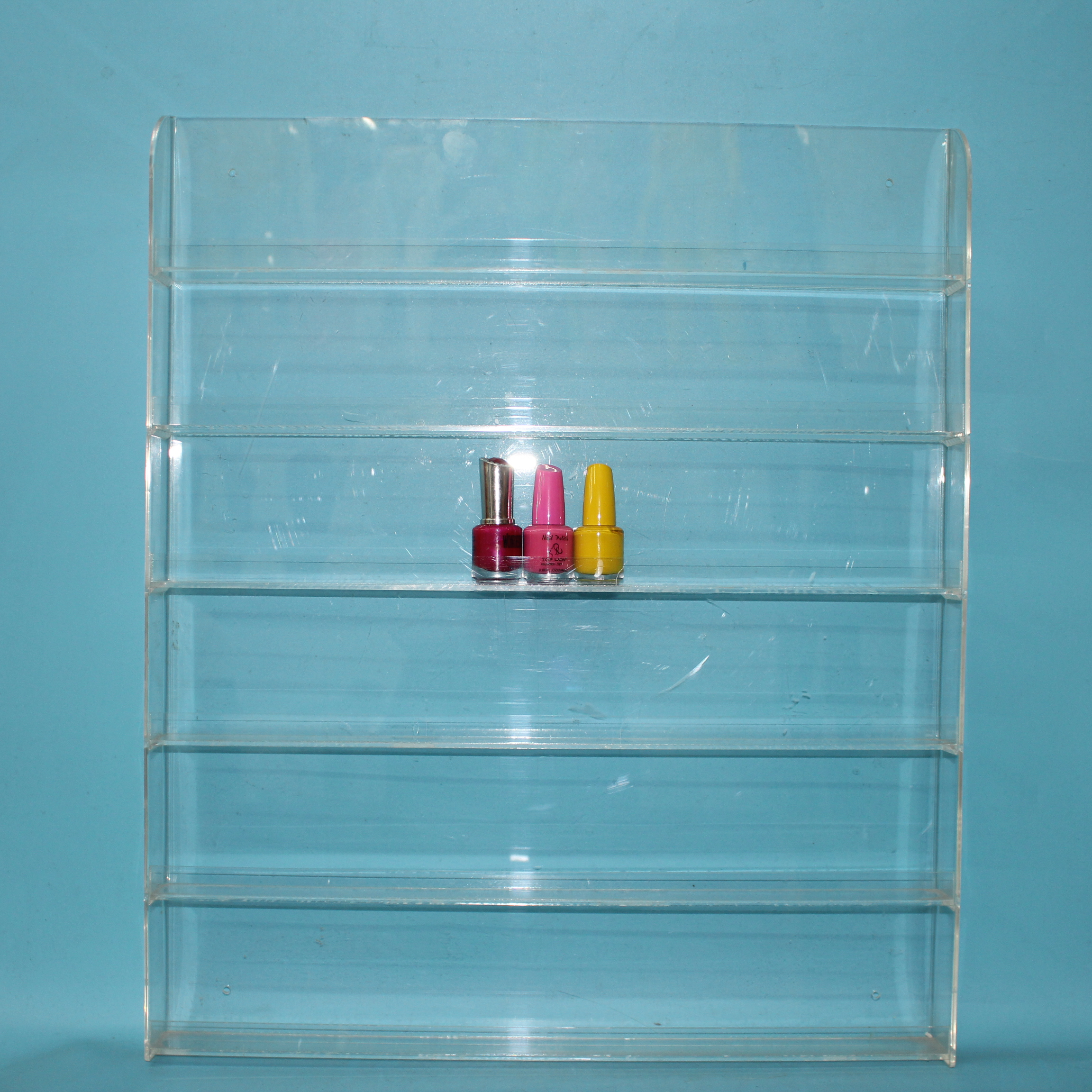 Clear Acrylic 90 Bottles Nail Polish Display Wall