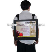 2013 Name Brand quality backpacks lcd advertising tv