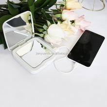 Mobile phone power bank cosmetic mirror 5x magnifying with led light