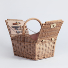Willow gift storage wicker hamper rattan picnic basket