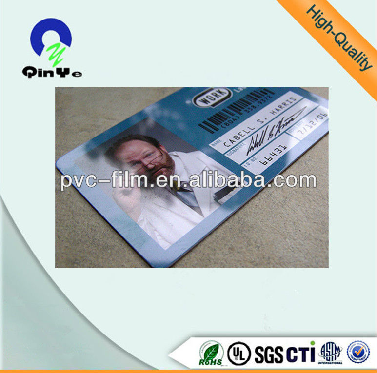 plastic pvc credit cards sheet
