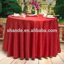 new design damask hotel dining custom table cover jacquard table cloth