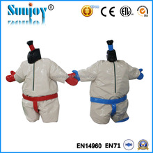Kids or adults fighting pvc inflatable sports games sumo suits sumo wrestling, foam padded sumo wrestling suits for sale