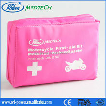 OP new product ISO FDA CE approved oem wholesale professional motorcycle vehicle pink emergency car kit
