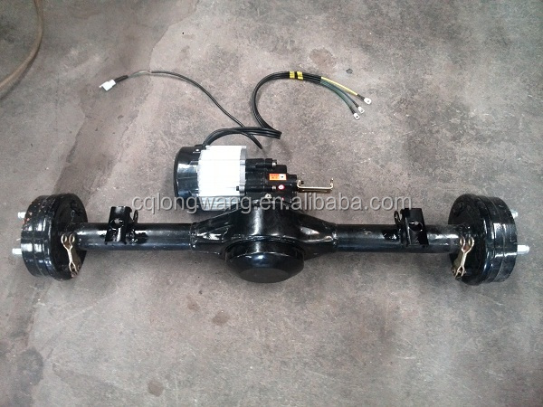 three wheeler E- tricycle/car/TUK TUK/ Rear Axle with DC gearbox electric motor