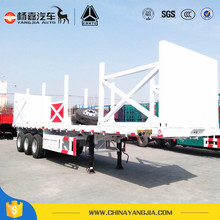 3 axles wood timber flatbed semi trailer for log transport