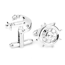 Wholesaler Fashional European American movie superman cufflink anchors cufflinks for men Moonso KCF6676