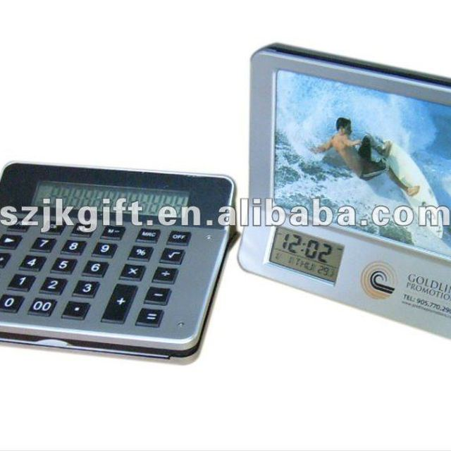 3 in 1 multifunctional calculator calendar clock with photo frame