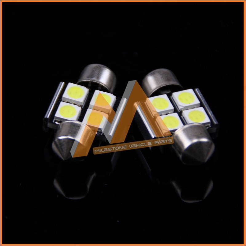CANBUS Non-Polarity 12V 4 PCS 5050SMD 32mm 36mm Festoon Car LED Light Bulb Lamp for Dome Light and Licence Plate Light