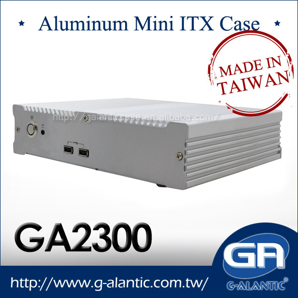 GA2300 - Fully Aluminum Fanless Mini Computer Case ITX