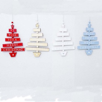 Wooden Christmas tree hanging ornaments christmas gifts natural wood pendants Xmas tree decorations