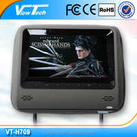 7 inch energy saving smallest pillow Headrest DVD player with slot-in loader