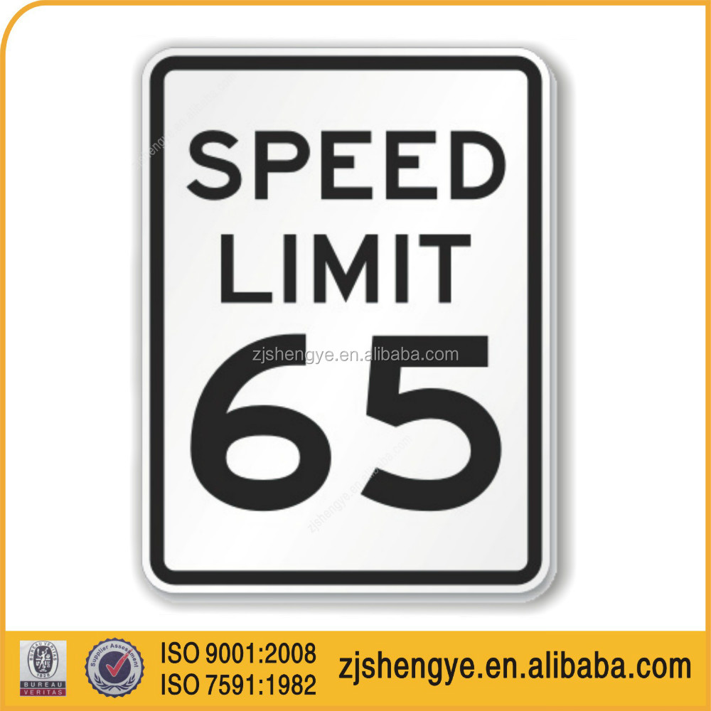 speed limit reflective road safety informative traffic signs