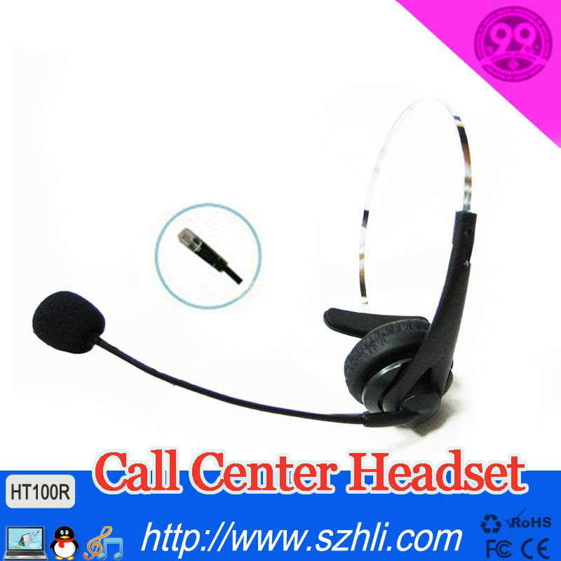100R Free shipping, Refinement Single ear headset for company and voip phone