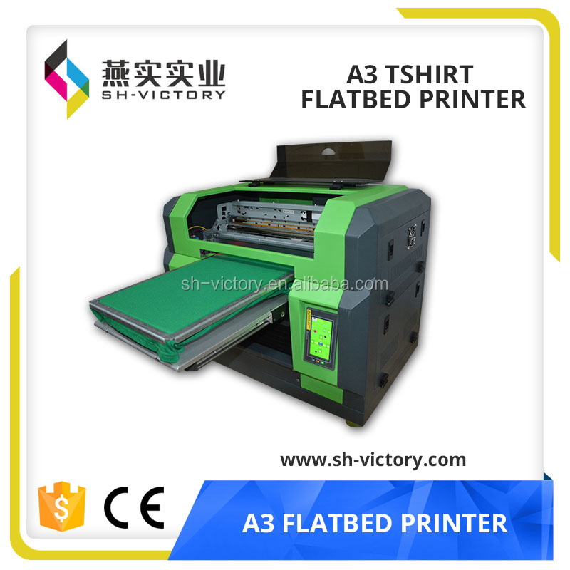 Cheap direct to garment printer/used garment printer (17cm height adjustable,5 color,1440DPI*1440 DPI,32cmx55cm)