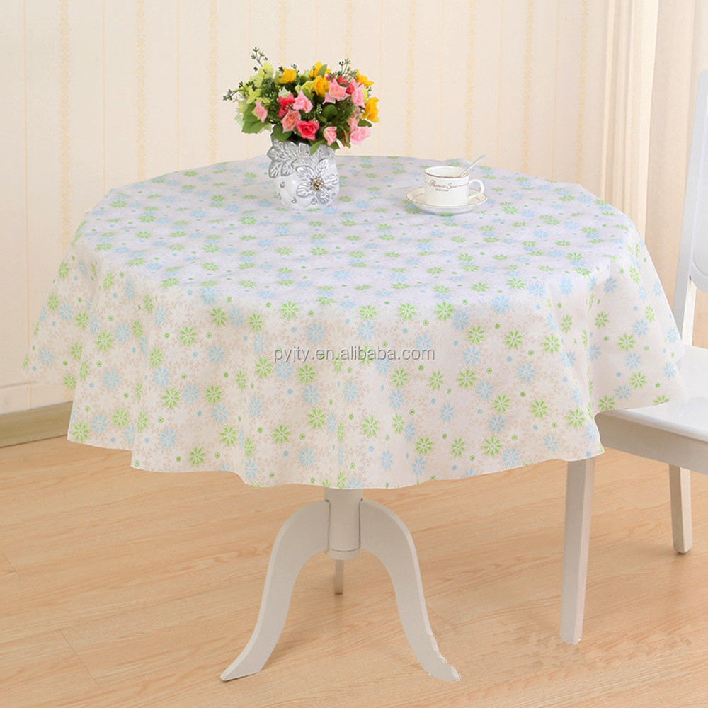 Goldsun factory selling peva round plastic table cover