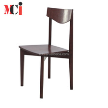 Modern design durable Contemporary backrest ash wood chair leisure armless wooden dining chairs