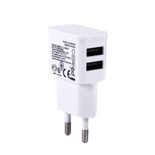 Universal Dual USB EU plug 5V 2A Wall Travel Power Charger Adapter for iPhone4 5 5S 7 6 6S plus For Samsung Galaxy Phone Charger