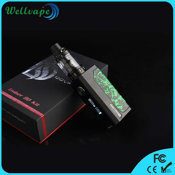 In stock fast shipping various color Dovpo Ember 80w kit box mod ecig