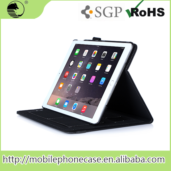 Custom Leather Tablet Smart Cover Case For iPad 6 With Strap