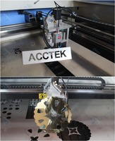 low cost plastic laser cutting machine AKJ1390H for metal,wood ,Acrylic,MDF,Leather,Plywood/sheet metal laser cutting