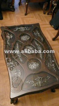 syrian glass coffee table