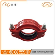 Hot Sale In Africa Market Red Pianted Cast Iron Grooved Coupling