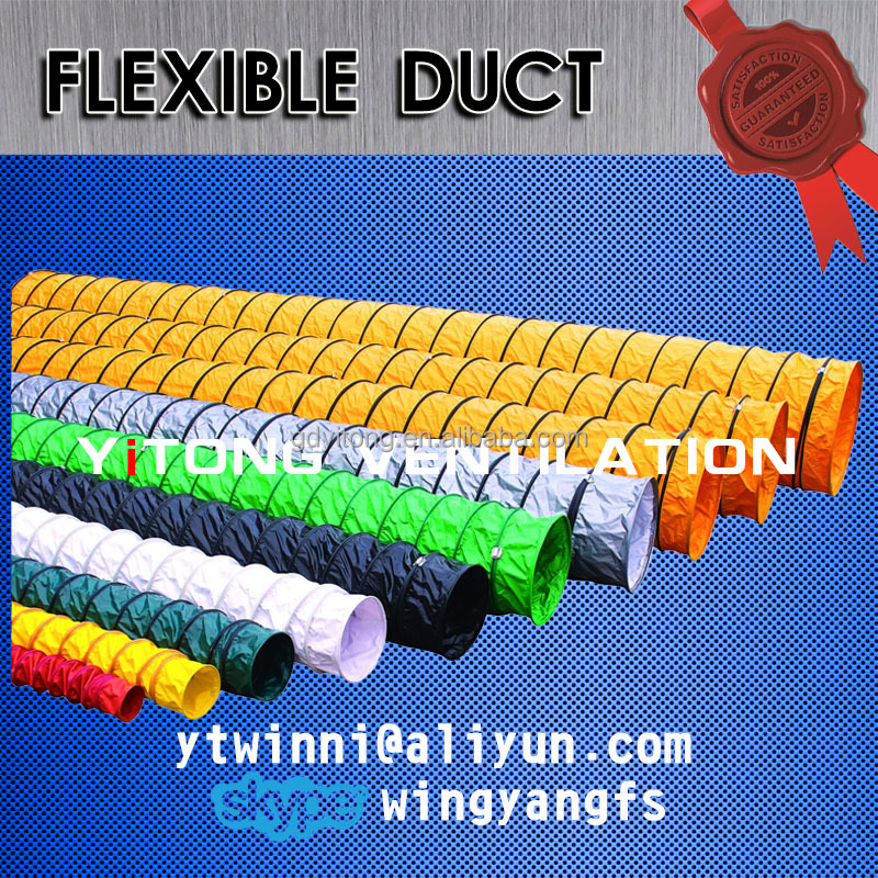 fire resistant and explosion proof pvc flexible duct make by pvc tarpaulin