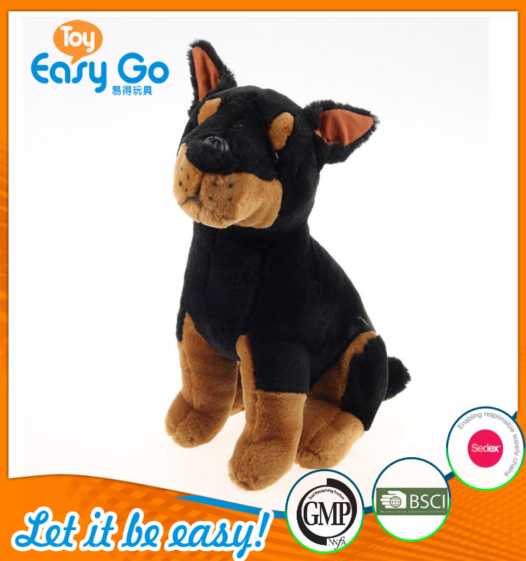 Customized black chinese dog sex plush toy